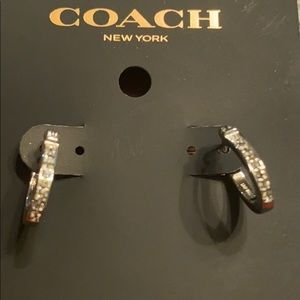 Coach Signature Huggie Earrings